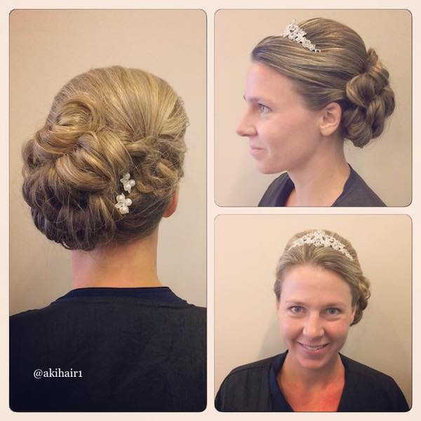 side shifted updo