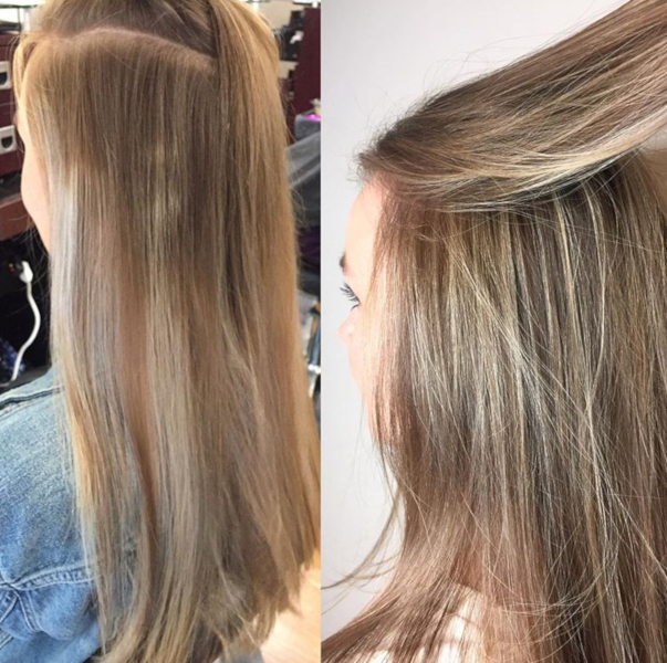 Left: before, Right: after